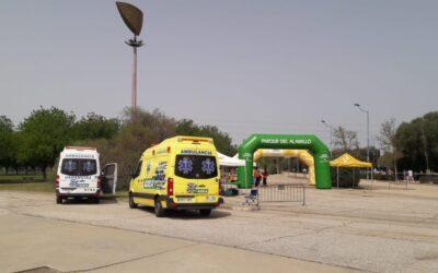 Triatlón en Sevilla con Ambulancias ADEA.
